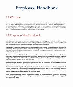 small business employee handbook template free 28 images With employee handbook template for small business
