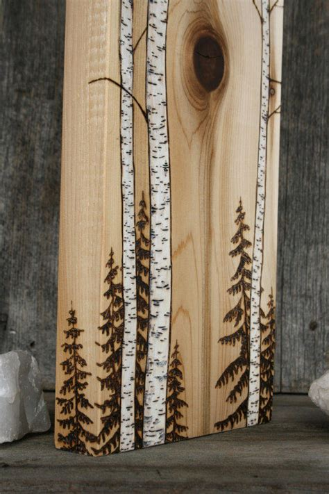 birch trees wood burning by birch trees block wood burning from twigsandblossoms on