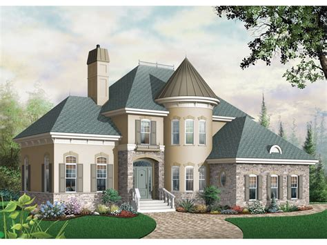 house plans with turrets bailey place european home plan 032d 0435 house plans