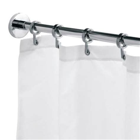 Curtain Hangers Home Depot by Croydex 98 4 In L Luxury Shower Curtain Rod With
