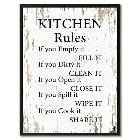 Kitchen Quotes Pictures by Kitchen Saying Canvas Print Black Picture Frame