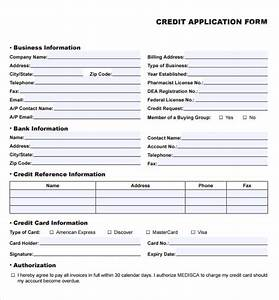 credit application forms 9 documents free download in With commercial credit application template