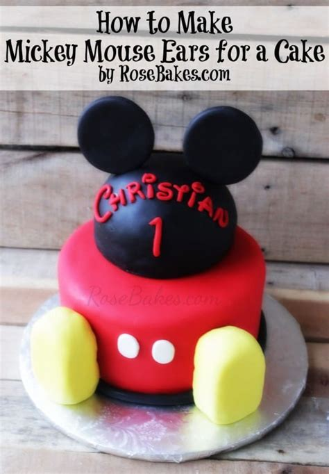 mickey mouse ears   cake rose bakes