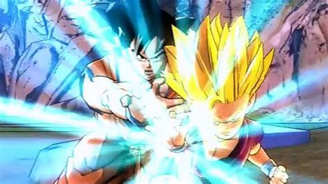 dragon ball  battle   gohan father son kamehameha