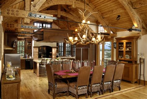log home interiors rustic kitchens design ideas tips inspiration
