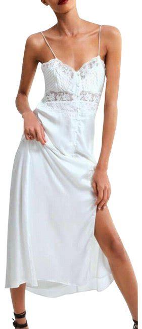 zara white satin lingerie style midi camisole slip long