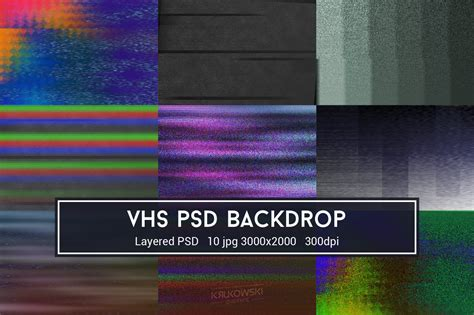 vhs glitch psd backdrop textures creative market