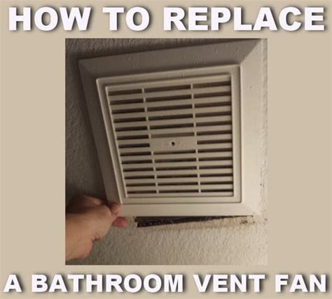 how to change bulb in bathroom exhaust fan removeandreplace com diy projects tips tricks