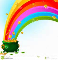 Rainbow and Pot of Gold Clip Art