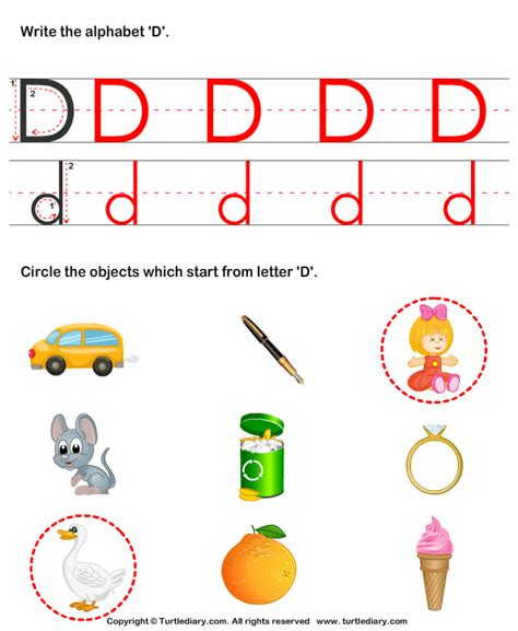 words that start with the letter d pictures of things start with letter d detail for d