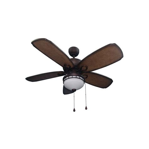 harbor breeze outdoor ceiling fan shop harbor breeze oyster cove 52 in aged bronze outdoor