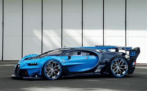 Blue Bugatti Car Hd Wallpaper by Car Vehicle Blue Cars Bugatti Veyron Bugatti Vision