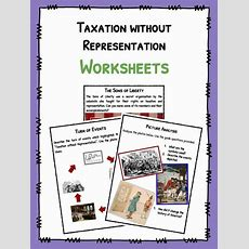 No Taxation Without Representation Facts & Worksheets For Kids