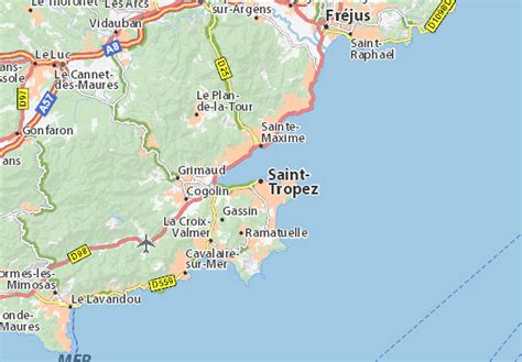 Situer Aygulf Carte by Map Of Tropez Michelin Tropez Map Viamichelin