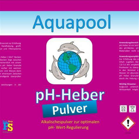 pHPlus Granulat ist ideal zum Anheben des pHWert im