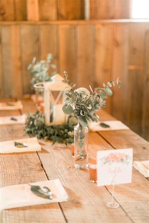 reception decor  rustic wood plank table