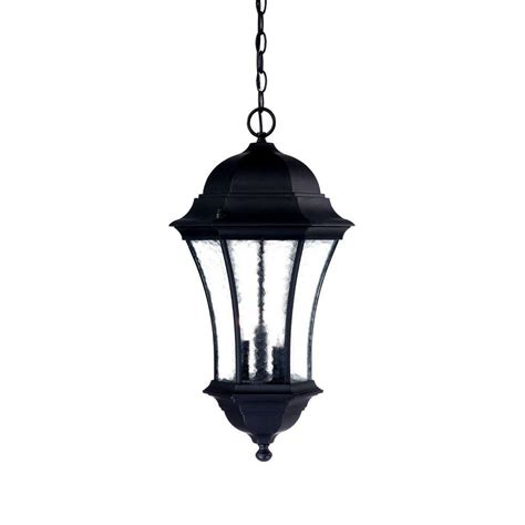 Hanging Porch Light Fixtures by Acclaim Lighting Waverly Collection 3 Light Matte Black