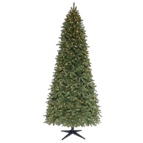 live christmas tree at home depot martha stewart living 9 ft pre lit downswept wimberly slim spruce artificial tree