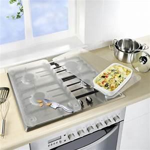 Plaque De Verre Pour Table : 2 couvre plaques de cuisson en verre transparent ~ Dailycaller-alerts.com Idées de Décoration