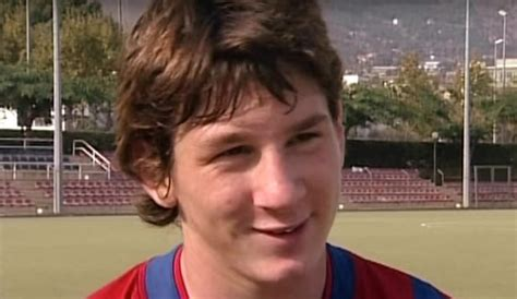 barcelona video  young lionel messi proves     head  shoulders