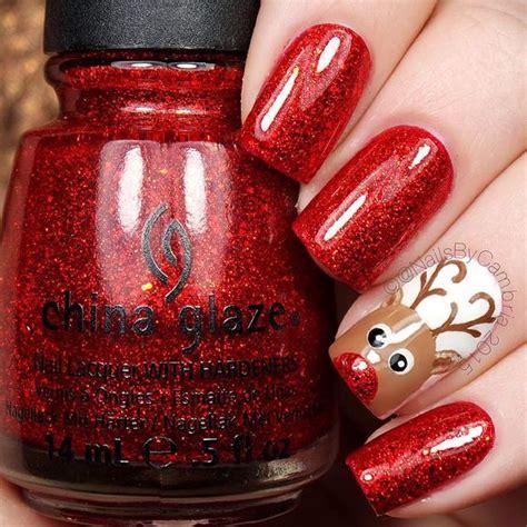 ideas   love  christmas nails pretty designs
