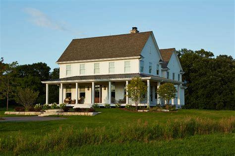 modern farmhouse farmhouse exterior minneapolis  hendel homes