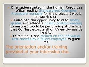 Internship Reflection Presentation