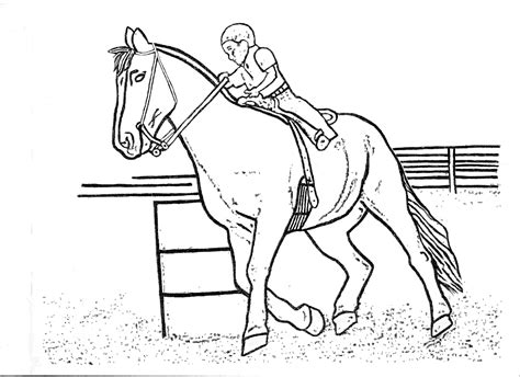 Horse Racing Coloring Pages Print Der