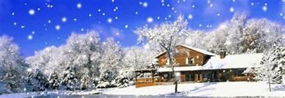 Animated Snow 3d Landscape Snowy Desktop Christmas