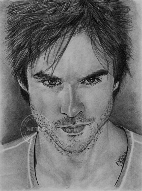 I figured i would do something simple for you guys to learn from since everything i've uploaded in the past few days have. Damon Salvatore Portrait by MickeyTheSaviour.deviantart ...