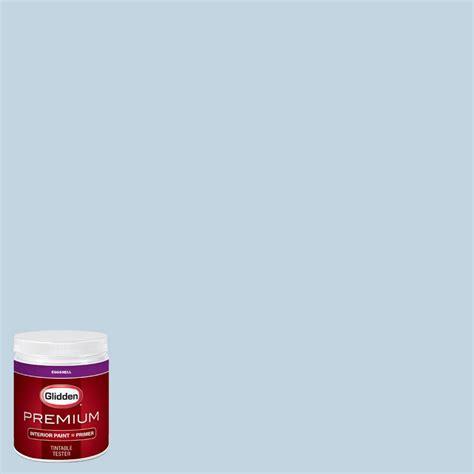 glidden premium 8 oz hdgb57 bastille blue eggshell interior paint with primer tester hdgb57p