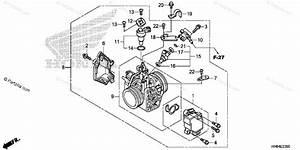 Honda Atv 2016 Oem Parts Diagram For Throttle Body