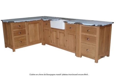 cuisine de a 0 z meuble sous evier de cuiine en bois de chene massif