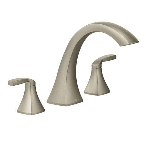 moen voss wall mount tub faucet moen voss 2 handle deck mount high arc tub faucet