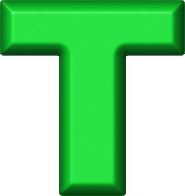 Green Letter T