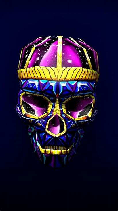 Skull 3d Bright Wallpapers Pixel Digital Iphone
