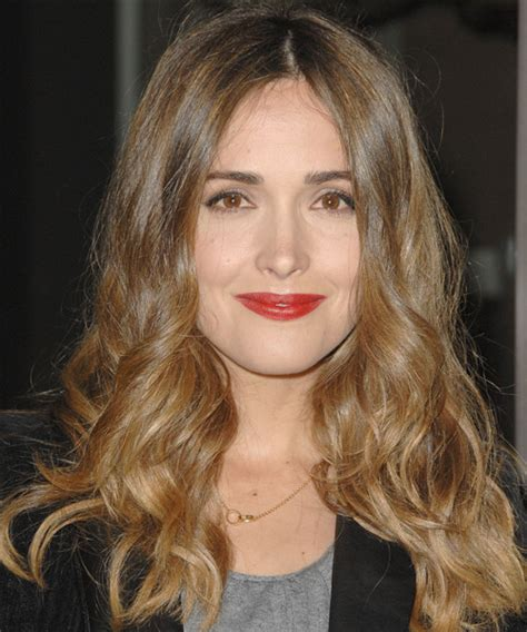 rose byrne casual long wavy hairstyle