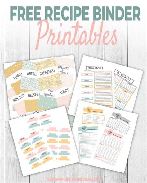 printable recipe binder recipe binders recipe book