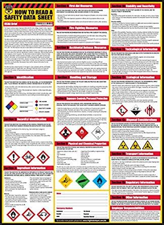 how to read a safety data sheet sds msds poster 24 33 inch uv coated paper poster