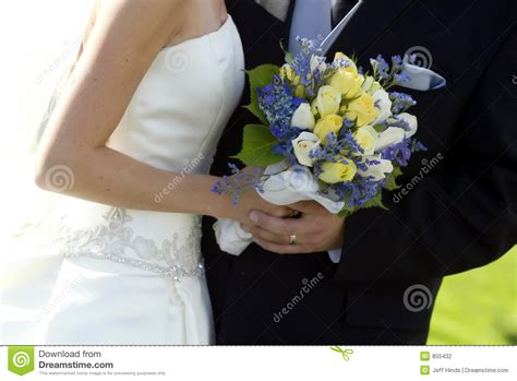 Bride, Groom & Bouquet Stock Photo. Image Of Shade, Hold