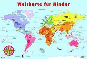 Weltkarte Kontinente Kinder : meine bunte weltkarte creactie ~ A.2002-acura-tl-radio.info Haus und Dekorationen