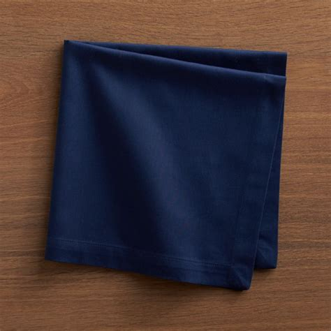 fete navy blue cloth napkin reviews crate  barrel