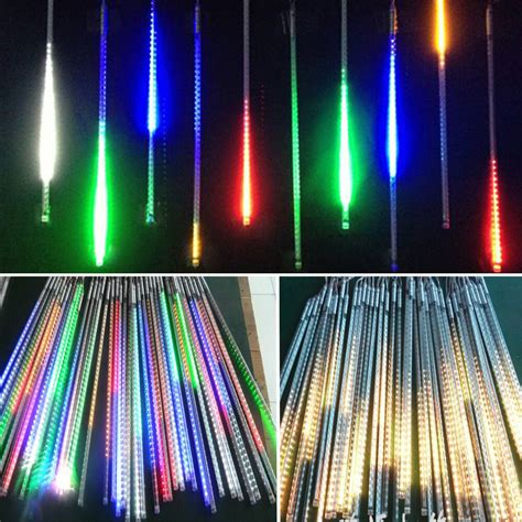 4m white led snowfall icicle lights 50cm drop 20 30 50cm meteor shower falling icicle snow fall led string lighting ebay