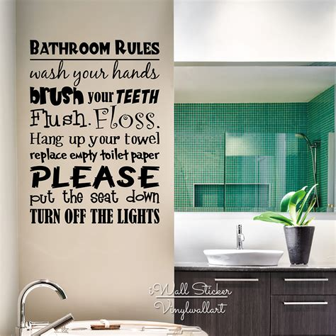 Decor Vinyl by Bathroom Vinyl Lettering Wall Decal Home Quotes Wall