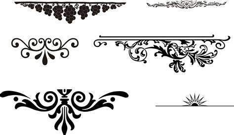 european gorgeous pattern element vector free vector 4vector