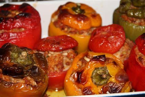 recette de poivrons farcis  la viande de veau