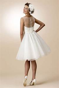 a line illusion neck sleeveless simple knee length rustic With simple rustic wedding dresses