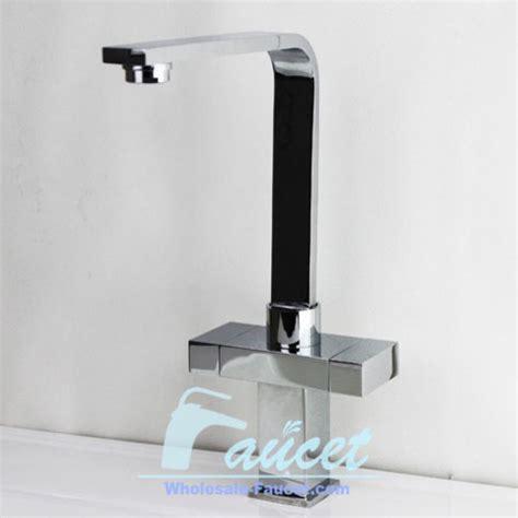 square design two handles kitchen faucet contemporary