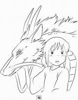 Ghibli Studio Coloring Pages Totoro Halloweens Adult sketch template