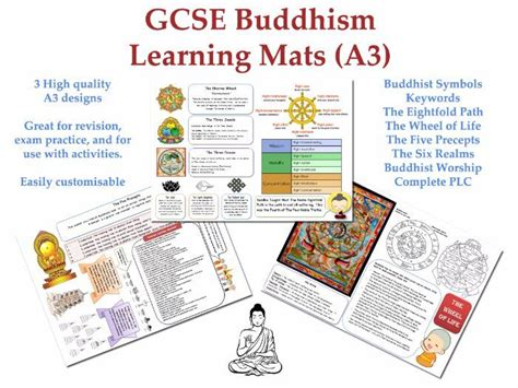 gcse buddhism learning mats 3 x a3 revision displays